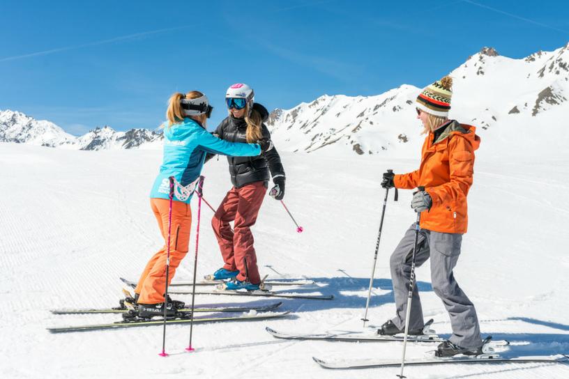 cours de ski adultes position sur les skis