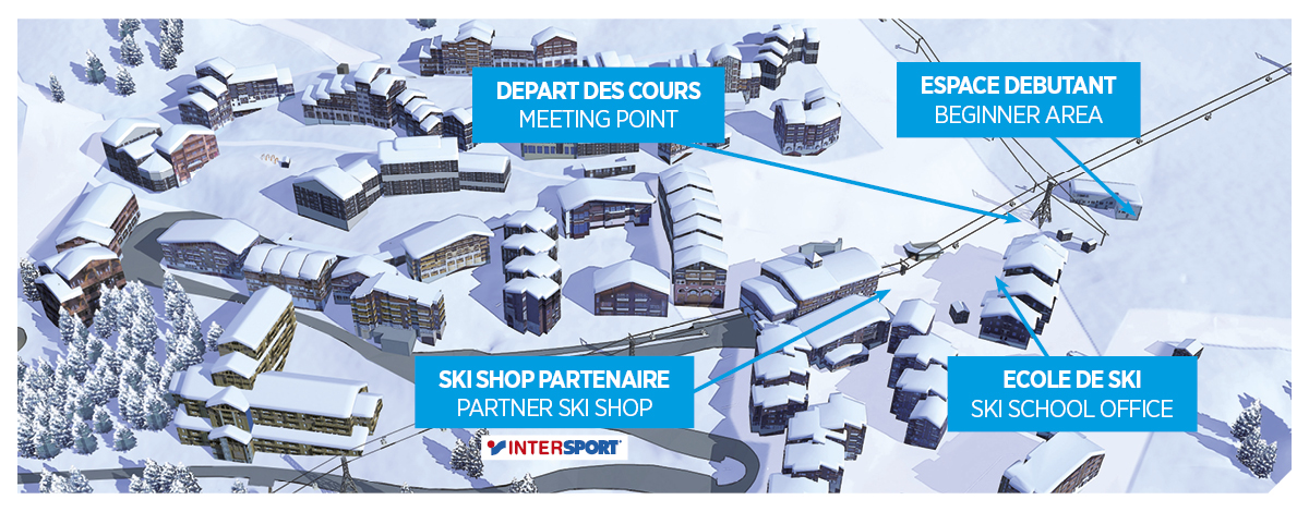 A new ski school office in Belle Plagne Oxygene