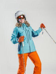 Oxygène Ski & Snowboard School   Adult Ski Helmet & Poles