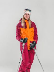 Oxygène Ski & Snowboard School | Female Adult with Ski Poles 2