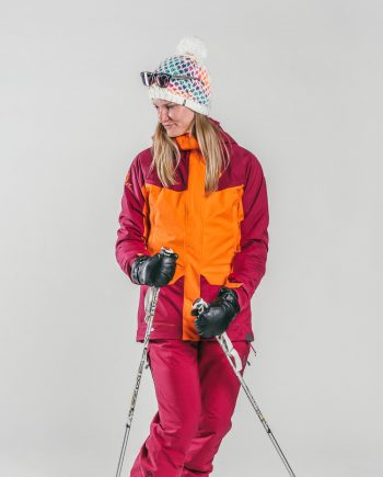 Oxygène Ski & Snowboard School Female Adult with Ski Poles