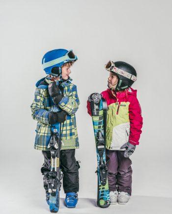 Oxygène Ski & Snowboard School Boy & Girl Skiers