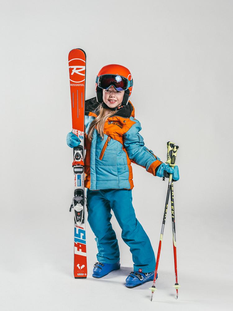 Oxygène Ski & Snowboard School Girl Pro-Rider Skier