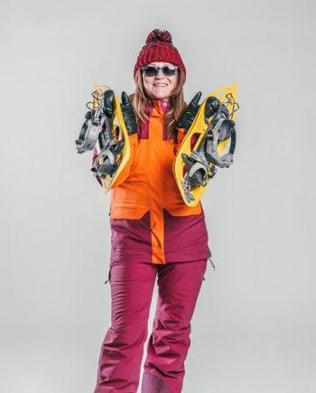 Oxygène Ski & Snowboard School Snowshoe Lady 2