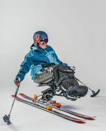 Oxygène adaptive sit-ski lessons