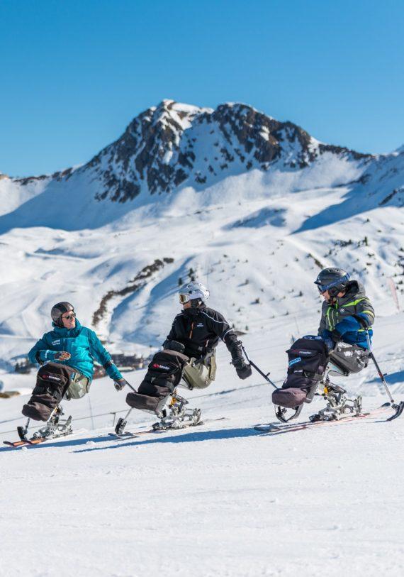 Sit-skiing with Oxygène