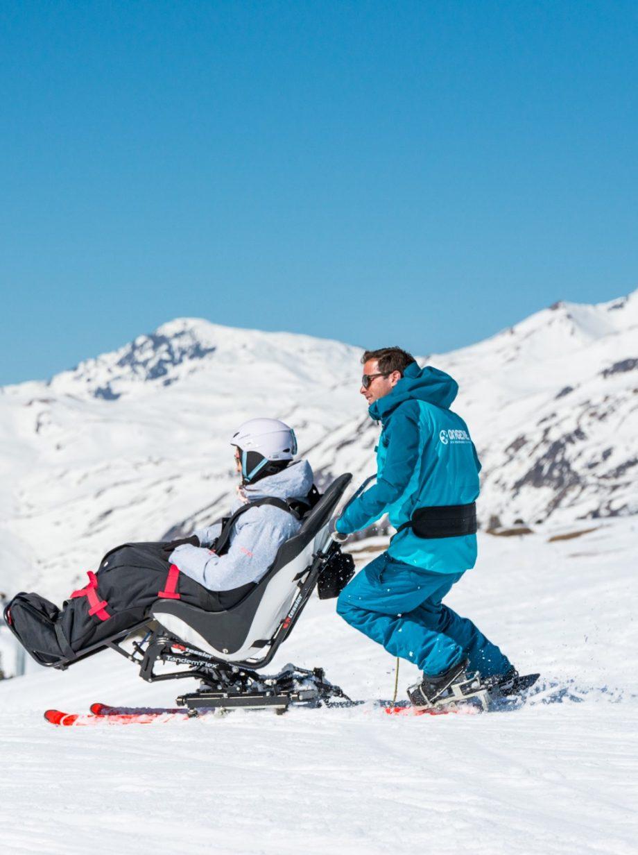 Adaptive skiing with Oxygene