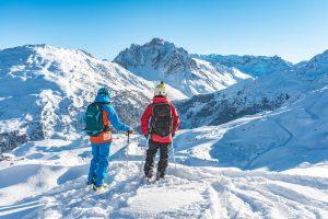 skier with Oxygene ski instructor