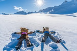 bear lovers and snow angels