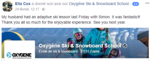 best adaptive ski lessons la plagne