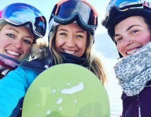 cours snowboard Val d'isère Oxygène entre filles