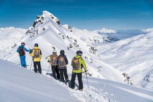 ski touring offpiste with Oxygene ski instructor