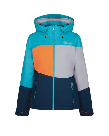 ladies ski jacket rental dare2b blue to hire in French ski resorts