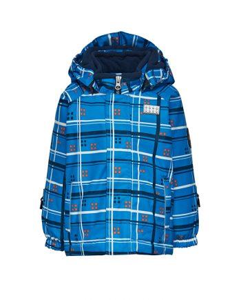 Legowear blue children kids ski jacket parka - Oxygene ski clothing rental - La Plagne, Meribel, Val d'Isere, Val Thorens, Les Menuires, Courchevel, Le Grand Bornand, Les Arcs, Tignes, La Tania, La Rosiere, France