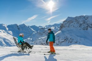 sortie ski adapté moniteur oxygene