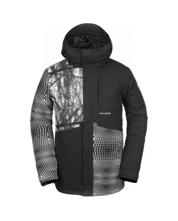 Volcom men ski jacket parka black to rent from oxygene ski schools in Val d'Isere, Meribel, Courchevel, Val Thorens, Megève, Grand Bornand, La Plagne, Les Menuires etc