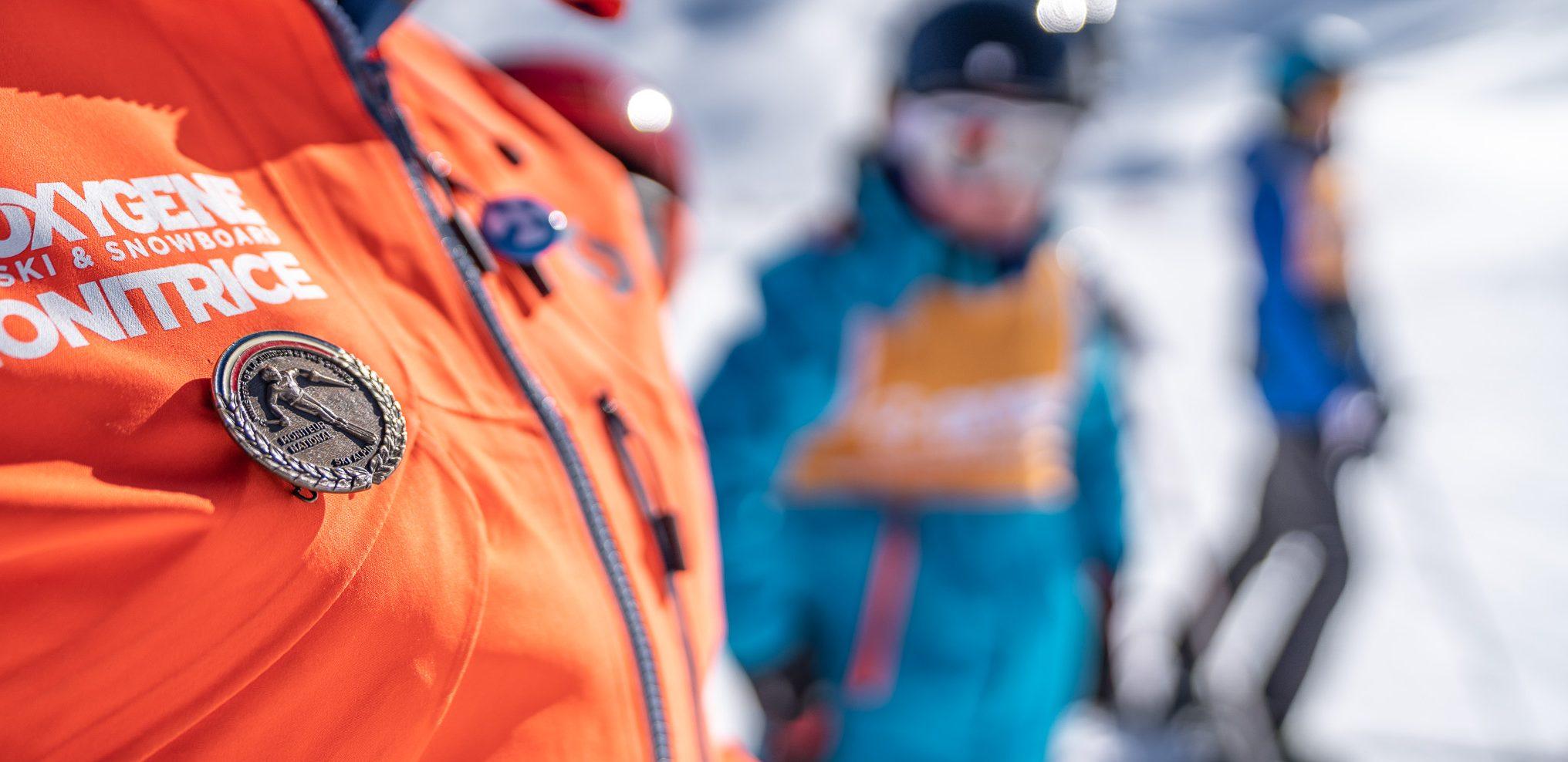 French diploma ski instructor medal