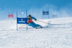 Trainee ski instructor in training