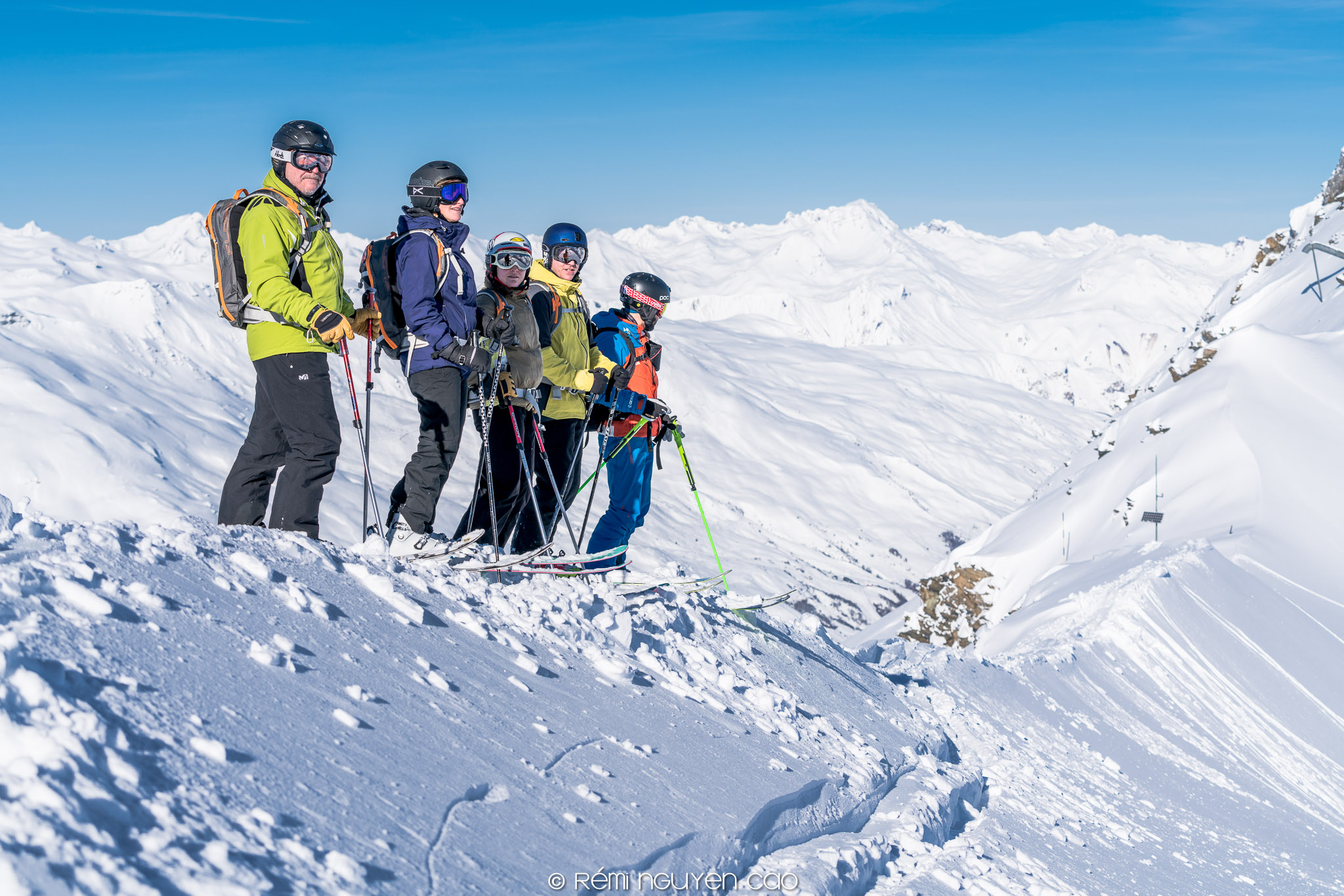 Off-piste session in Val Thorens with Oxygene