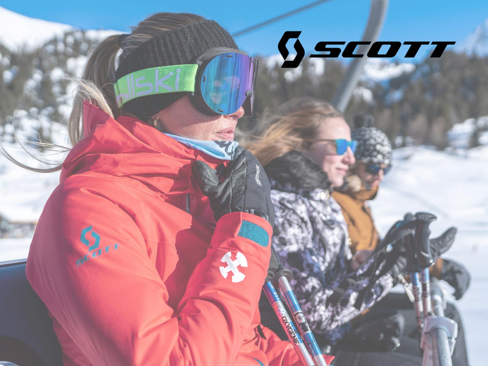 SCOTT women ski jacket and pants rental by Oxygene