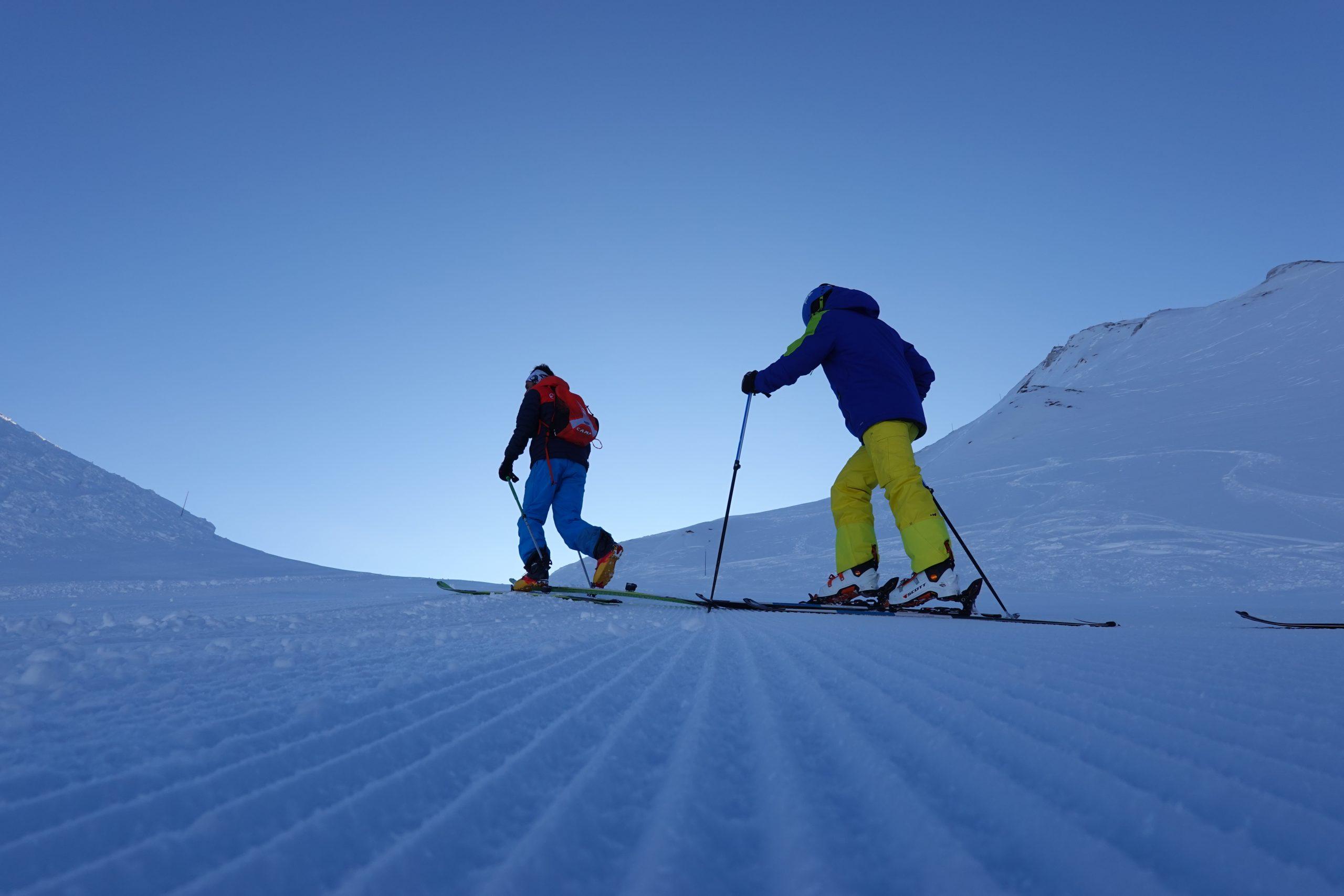 Ski touring with Oxygene