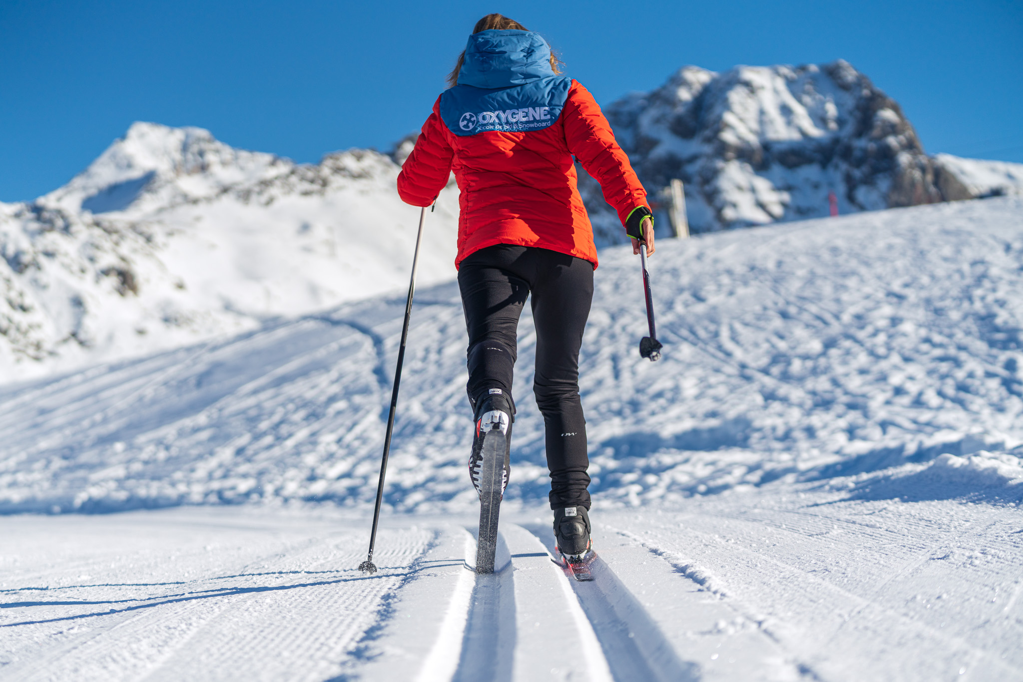 Cross-country skiing with Oxygene